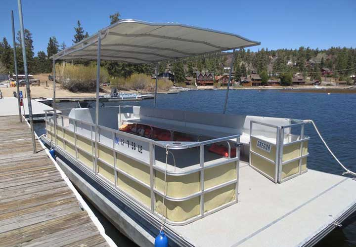 Large Gregor Pontoon Rental - Big Bear Pontoon Boat Rentals